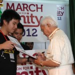 March on for Unity - Sarawak Chief Minister YAB Pehin Sri Haji Abdul Taib Mahmud gives his endorsement of Yayasan Perpaduan Sarawak's 2012 calendar of activities 'March on for Unity', 2012